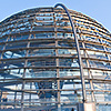 The glass dome of the Reichstag, Germany's parliament building, provides excellent views across the city.