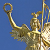This angelic golden statue stands proudly atop the Berlin Victory Column.